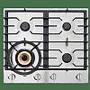 ATAG rvs gaskookplaat met wokbrander (60 cm)